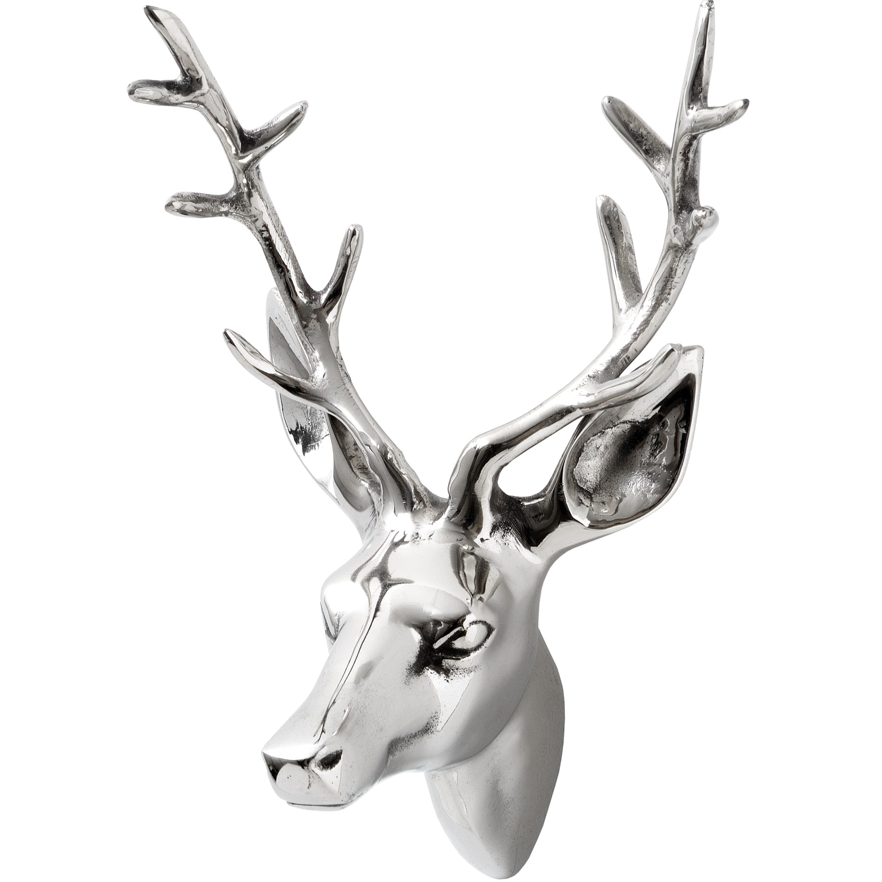 Decorative small silver stags head from hill interiors - Decorative stags head ...