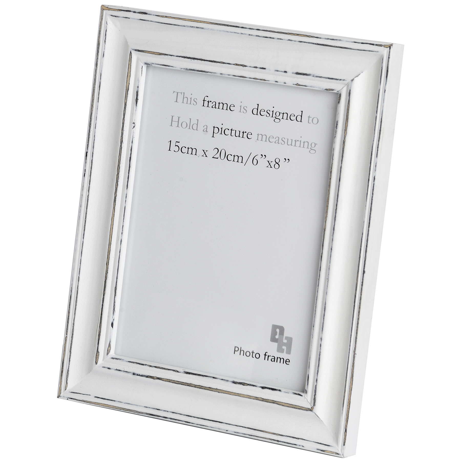 6 x 8 inch antique white photo frame from hill interiors. Black Bedroom Furniture Sets. Home Design Ideas