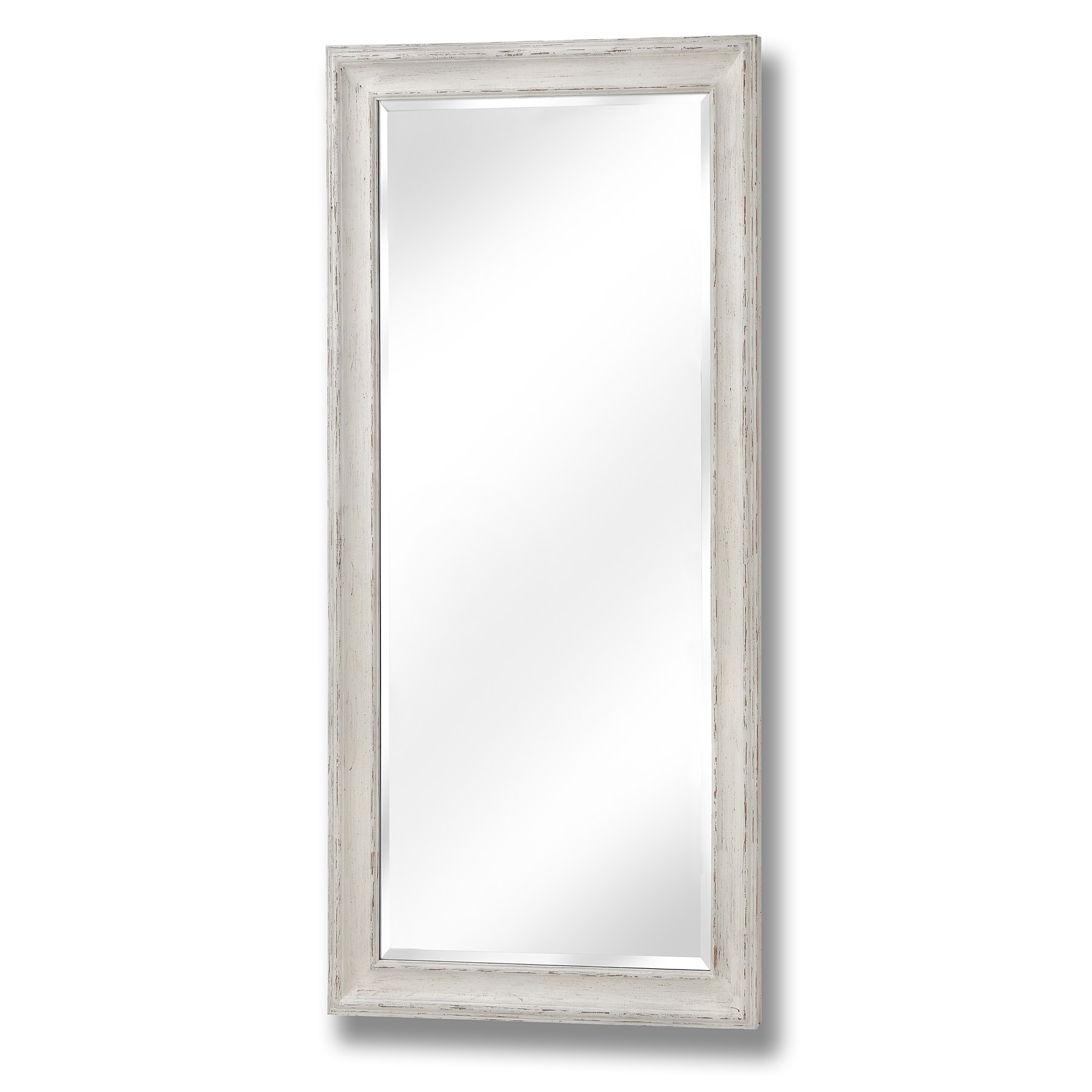 Antique white large frame mirror from hill interiors for Large white mirror