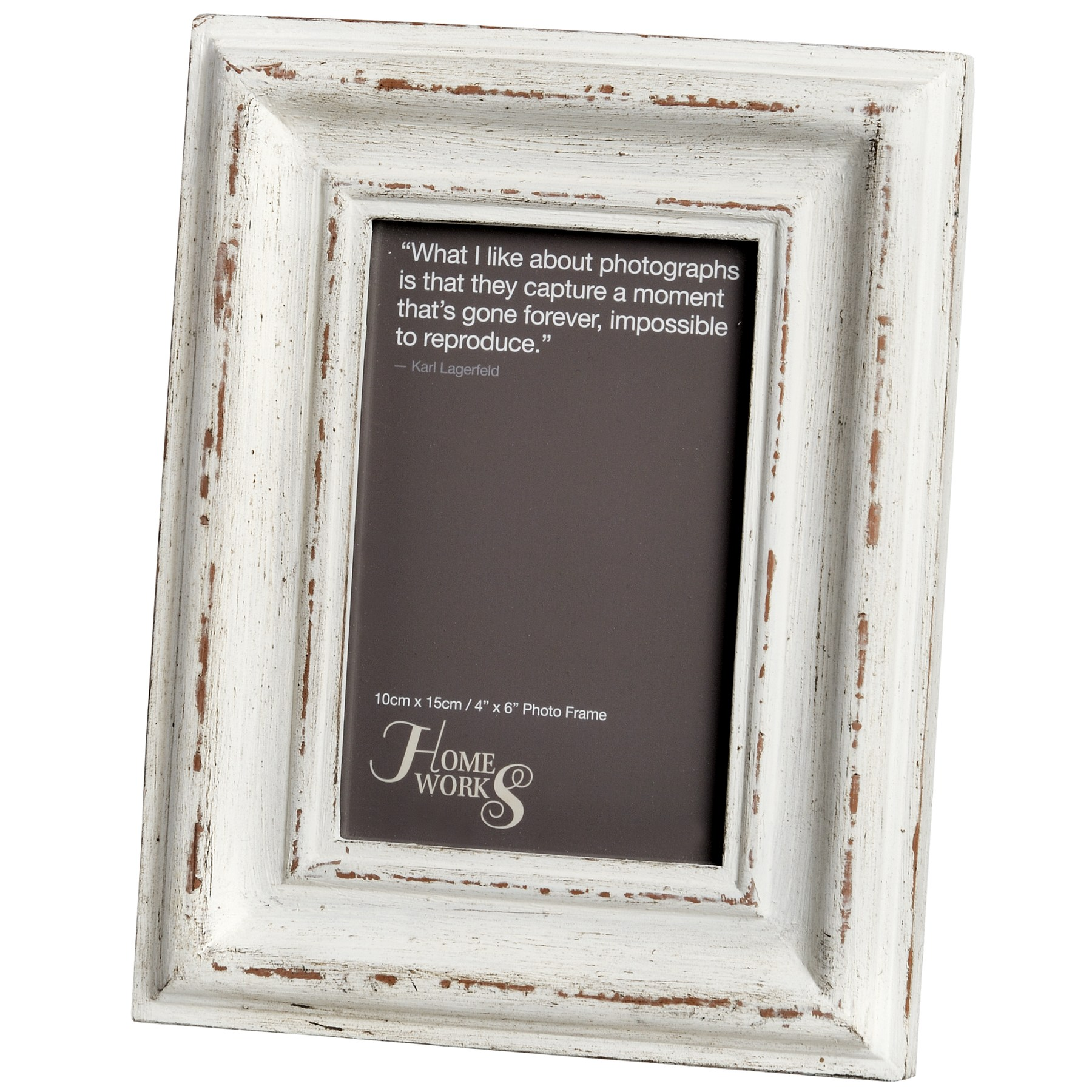 4x6 Antique White Photo Frame From Hill Interiors