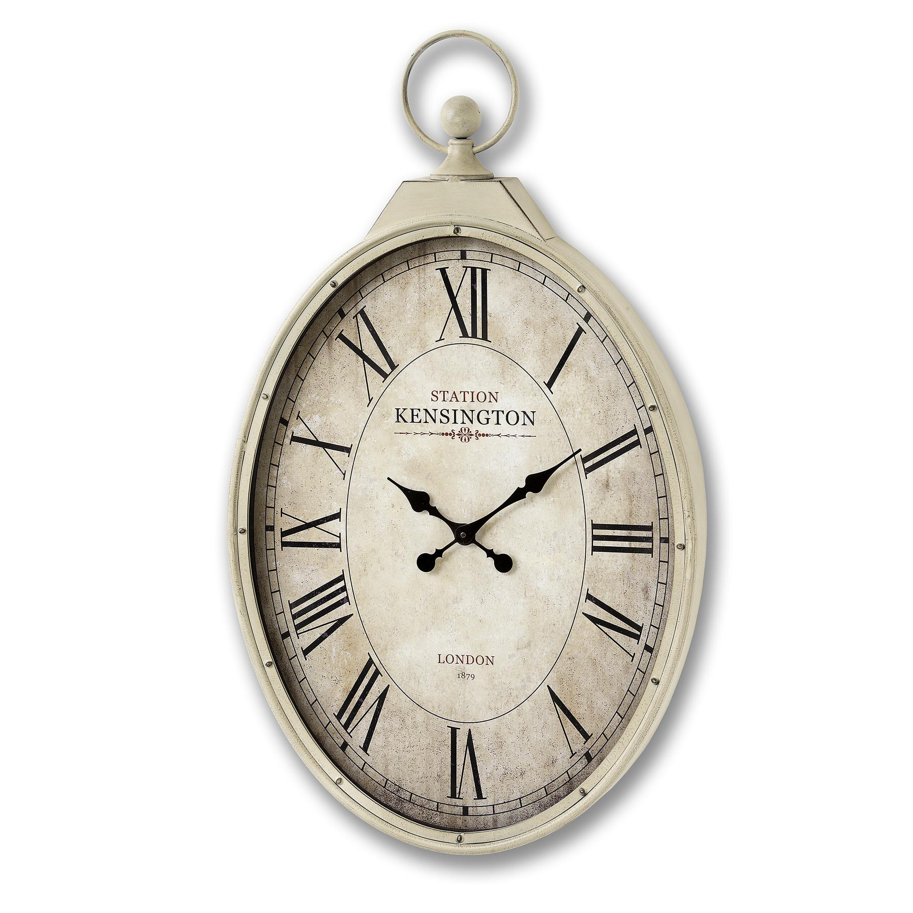Kensington Station Oval Wall Clock From Hill Interiors