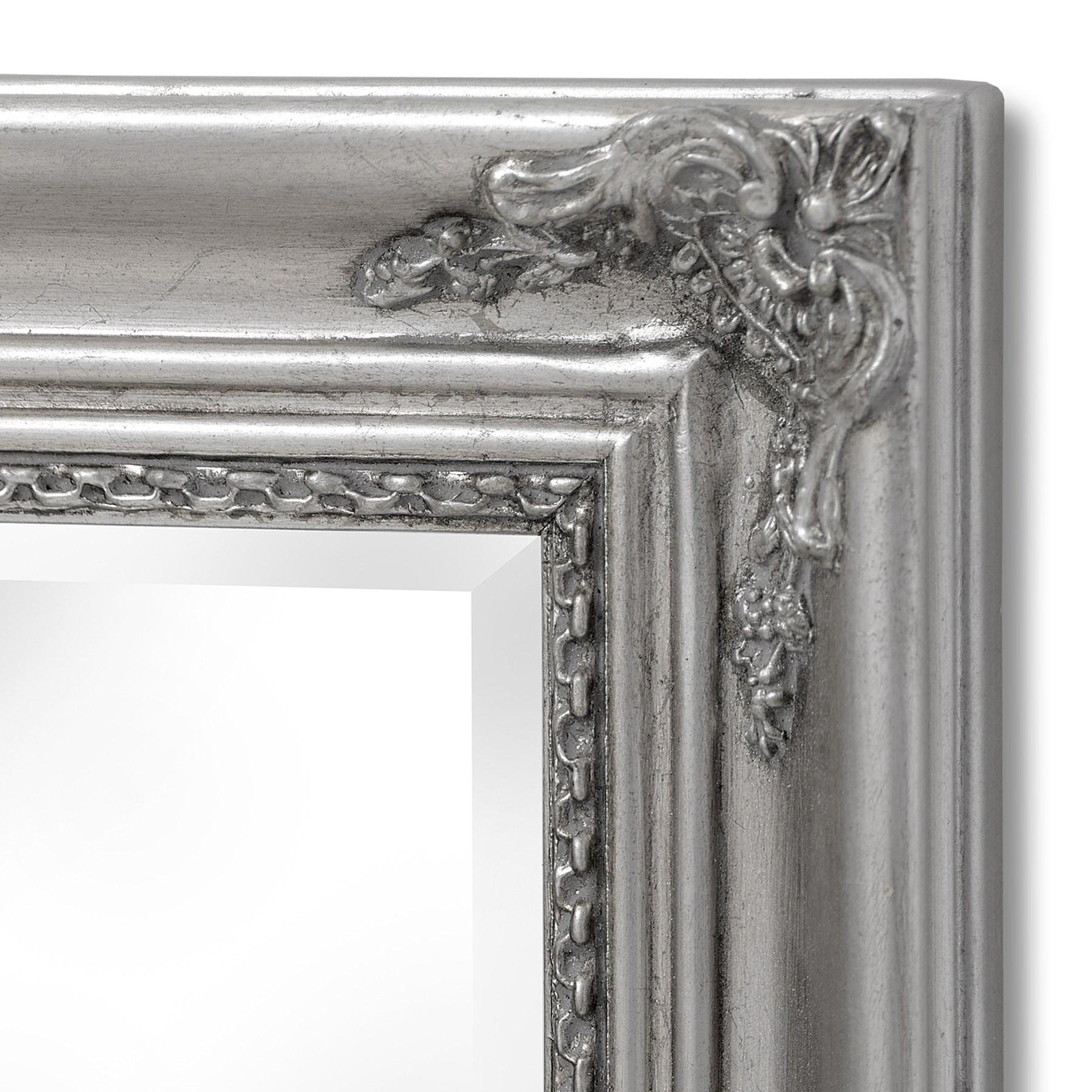 Baroque Slimline Antique Silver Full Length Mirror - Image 2