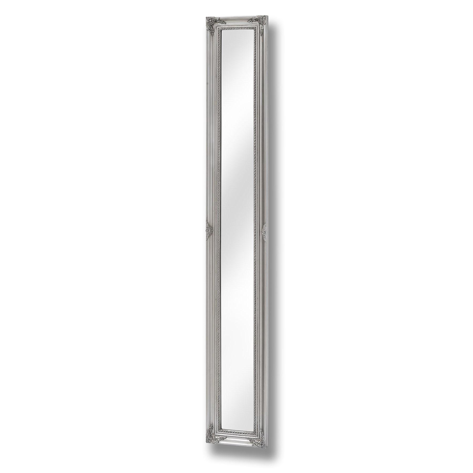 Baroque Slimline Antique Silver Full Length Mirror - Image 1