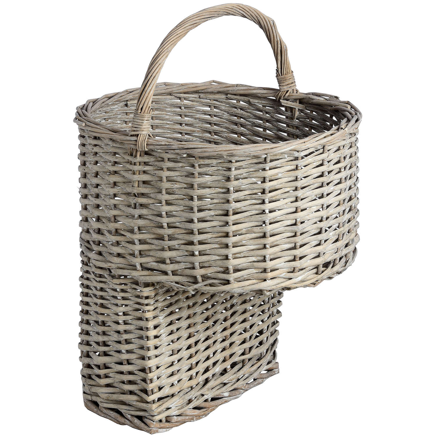 Bon Wicker Stair Basket With Handle
