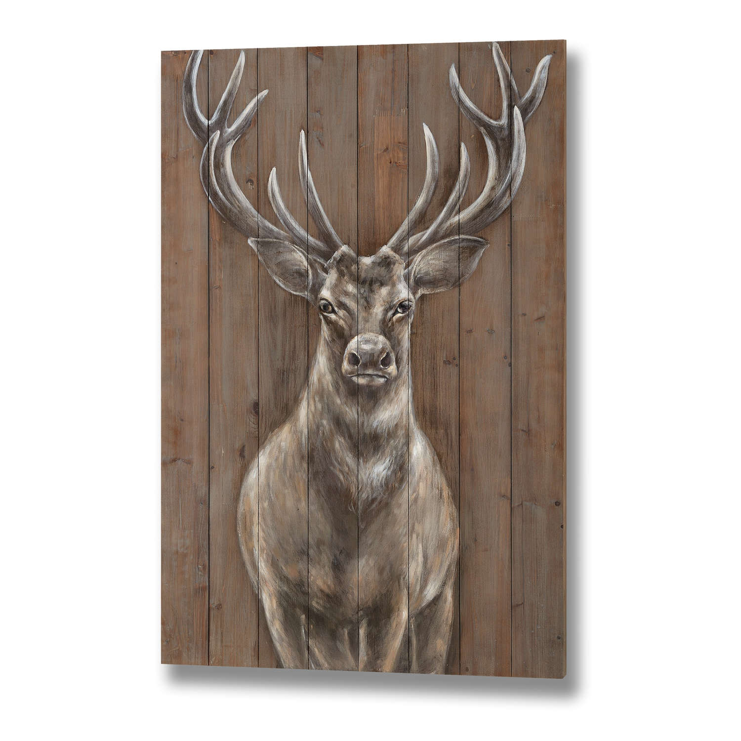 This Magnificent Stag Has Been Hand Painted Onto A Large