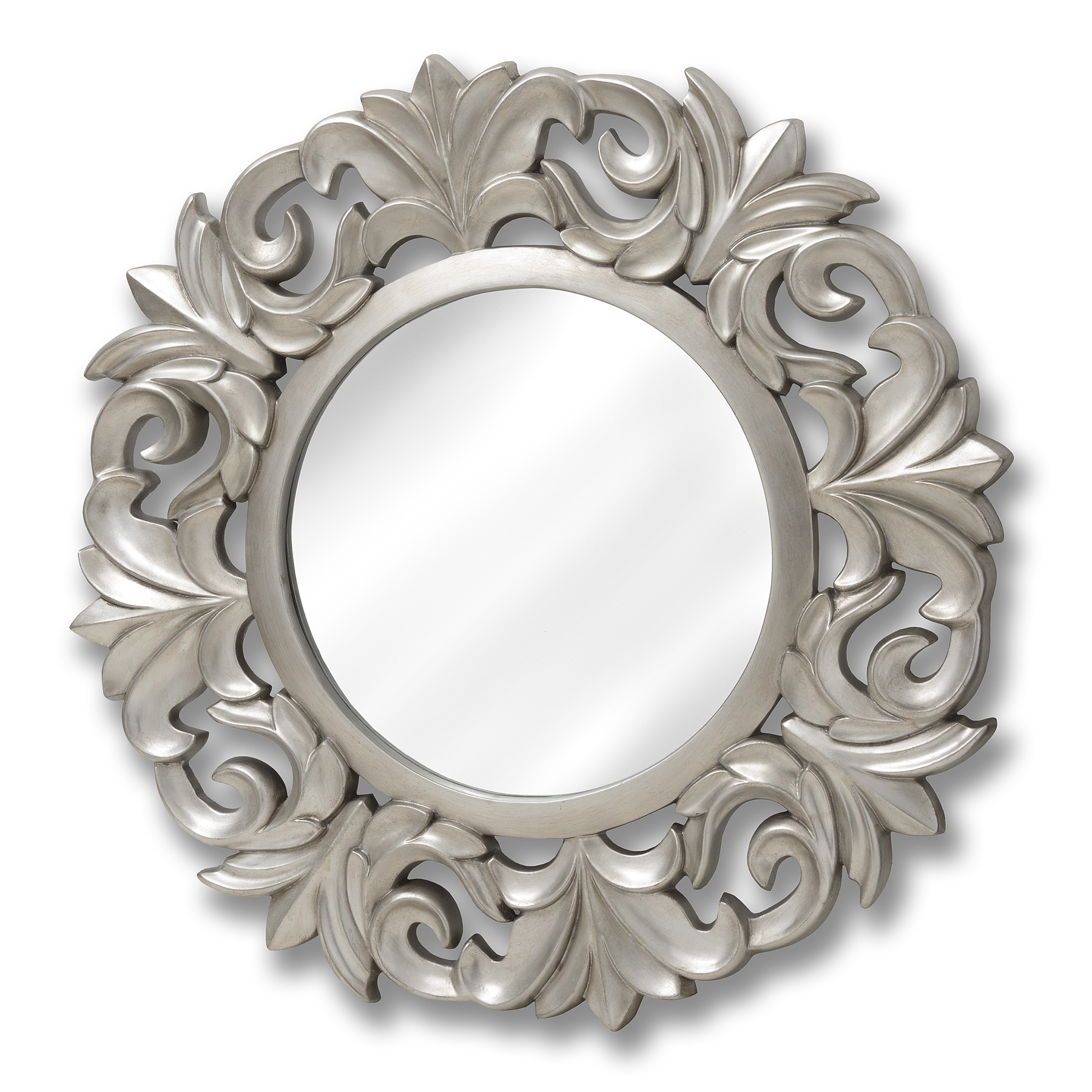 Large baroque circular mirror from hill interiors for Plastic baroque mirror