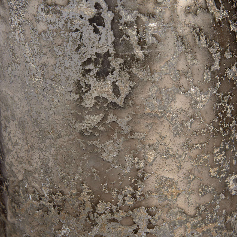 Antique Silver Effect Glass Bottle Vase - Image 2