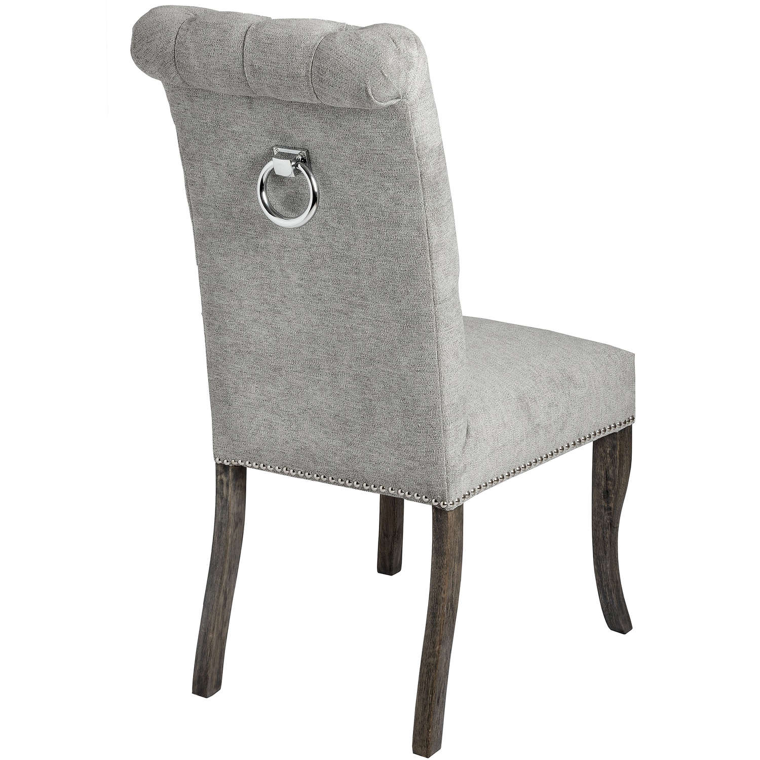 Silver Roll Top Dining Chair With Ring Pull - Image 2