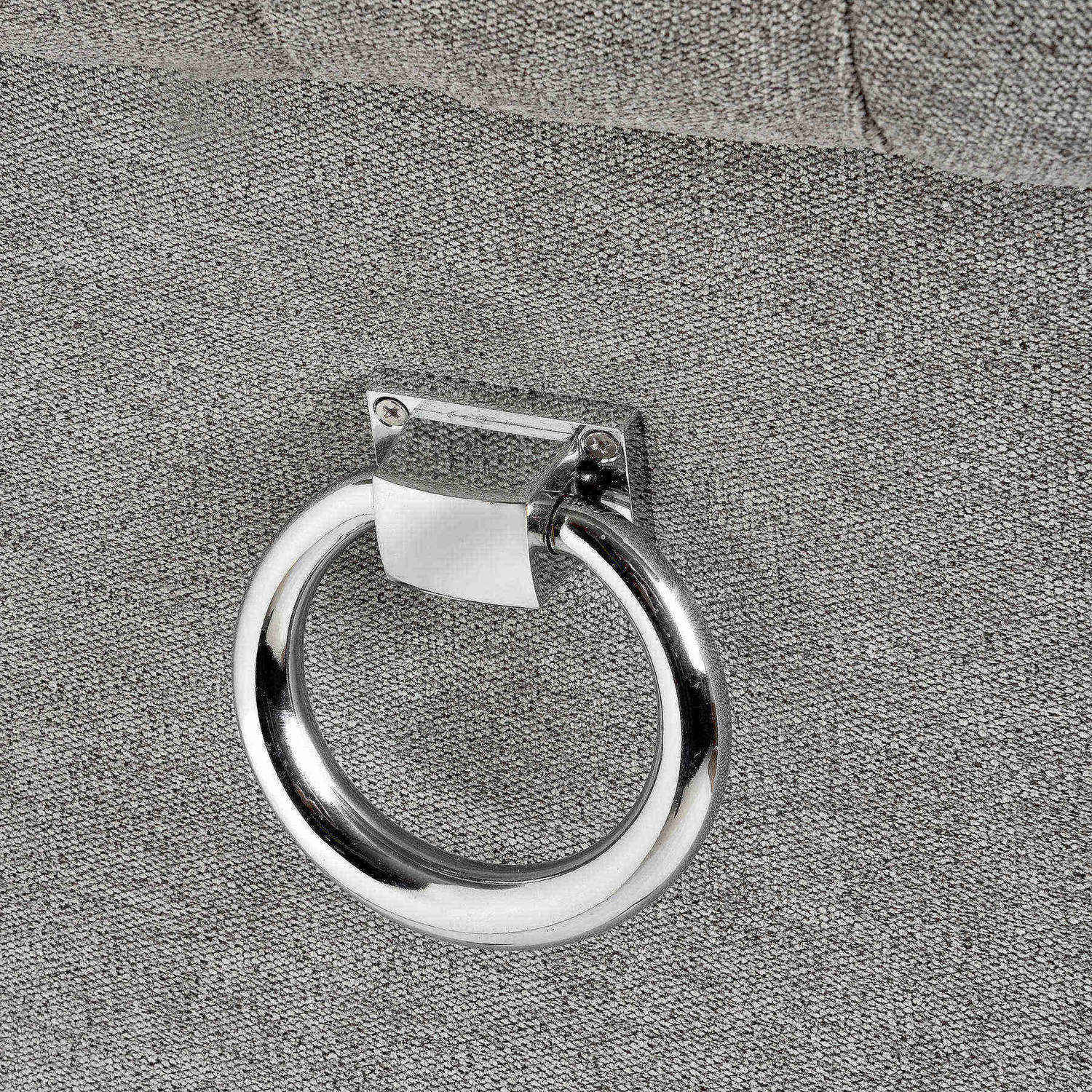 Silver Roll Top Dining Chair With Ring Pull - Image 4