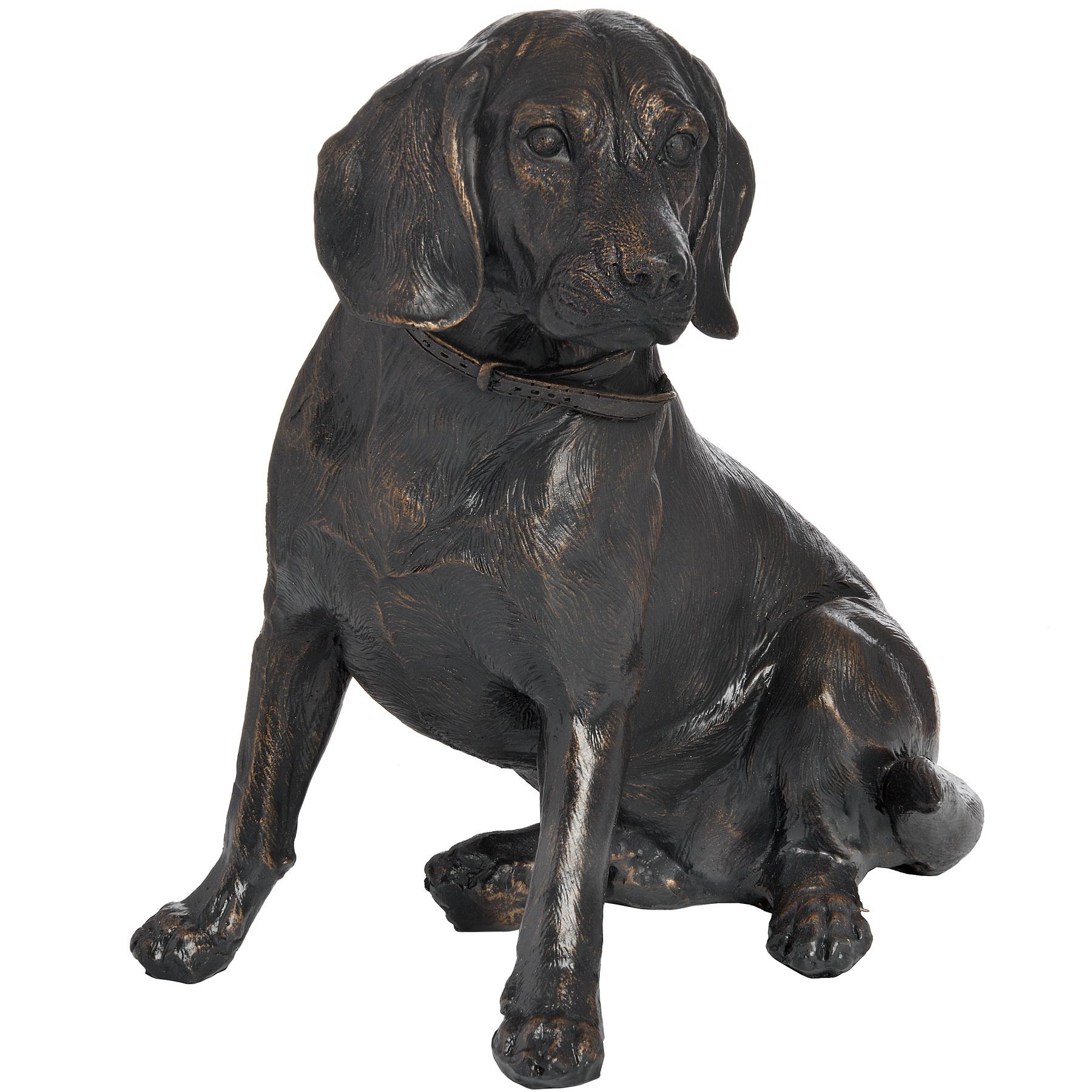 Sitting Spaniel In Antique Bronze - Image 1