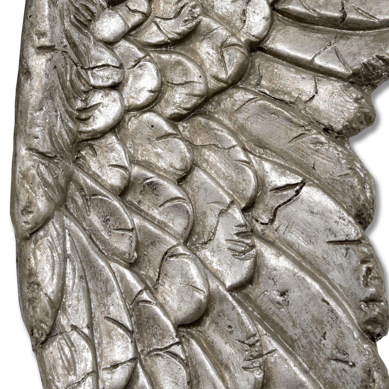Antique Silver Angel Wings - Image 2