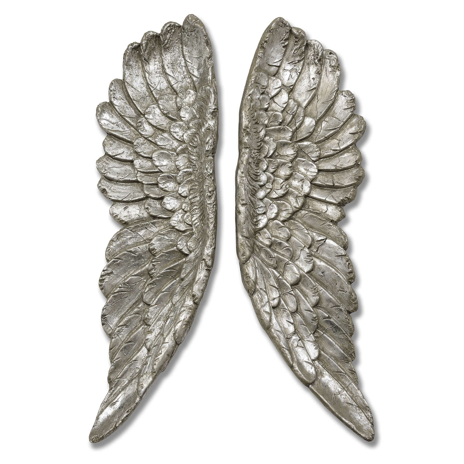 Antique Silver Angel Wings - Image 1