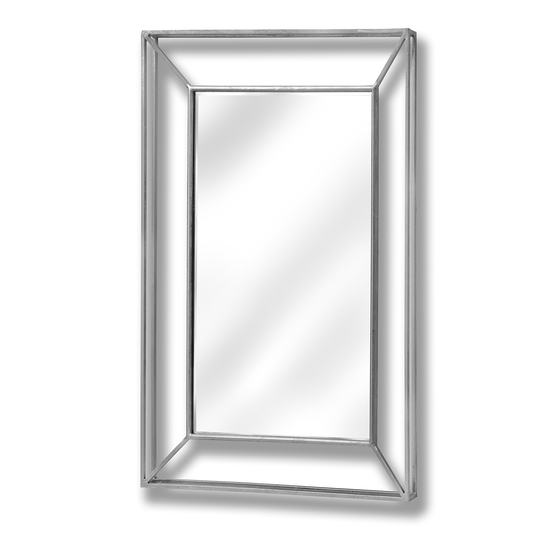 Large framed design pronounced silver mirror from hill for Large silver mirror