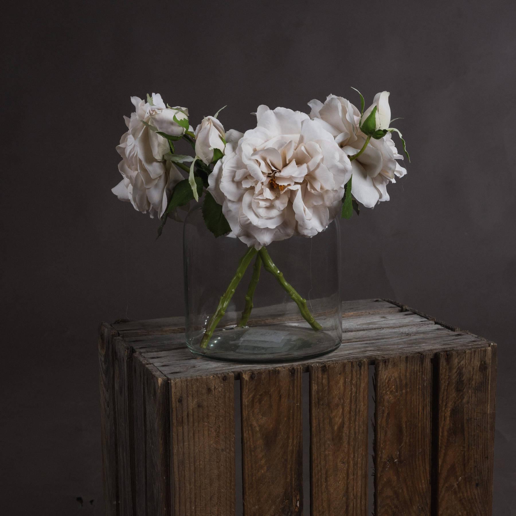 White Short Stem Rose - Image 1