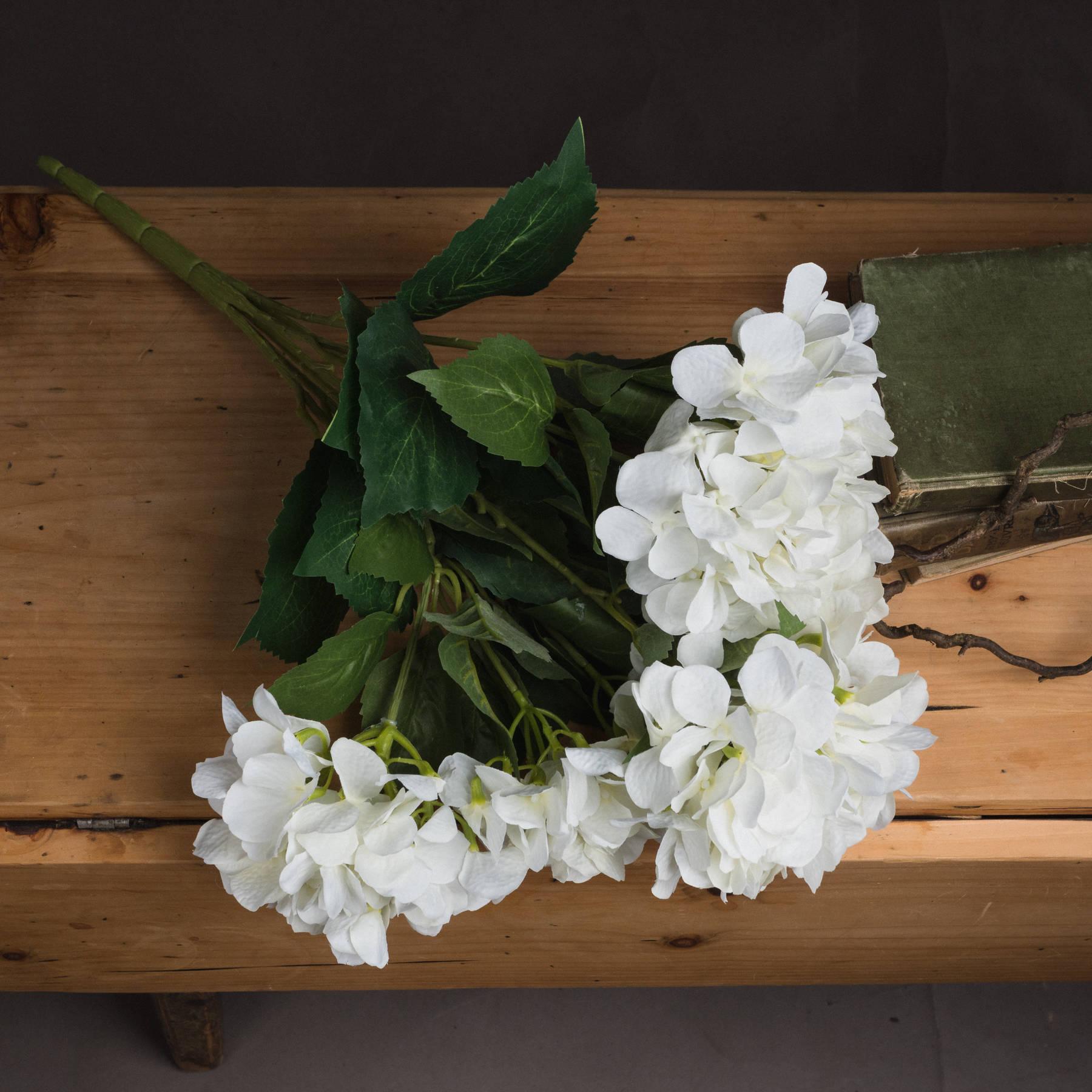 White Hydrangea Bouquet - Image 2