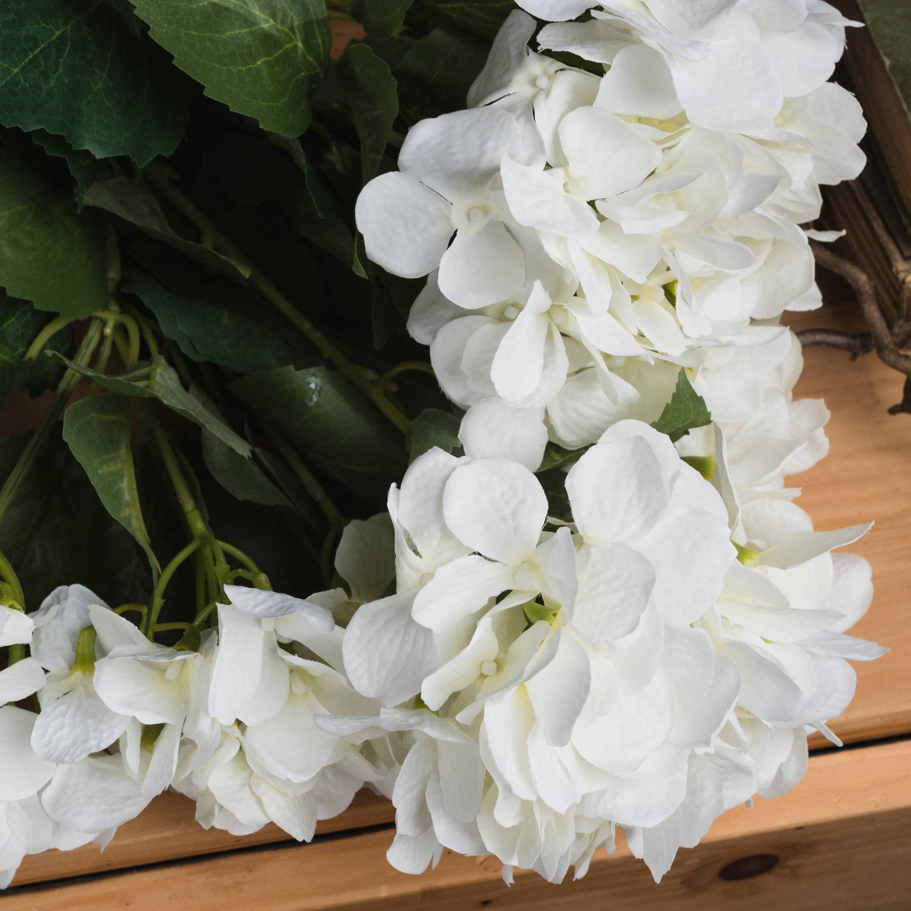 White Hydrangea Bouquet - Image 3