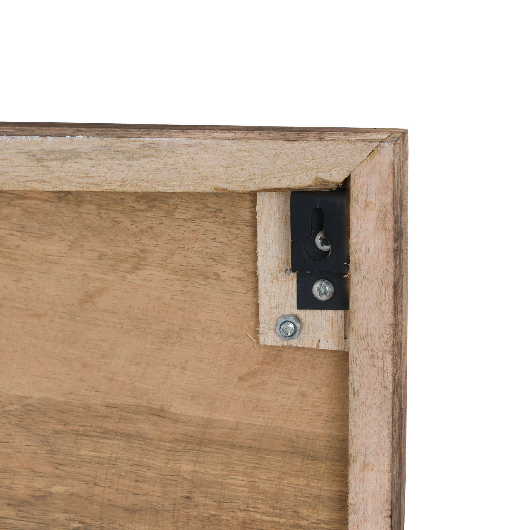 Six Nickel Horse Shoe Hooks On Wooden Board - Image 3
