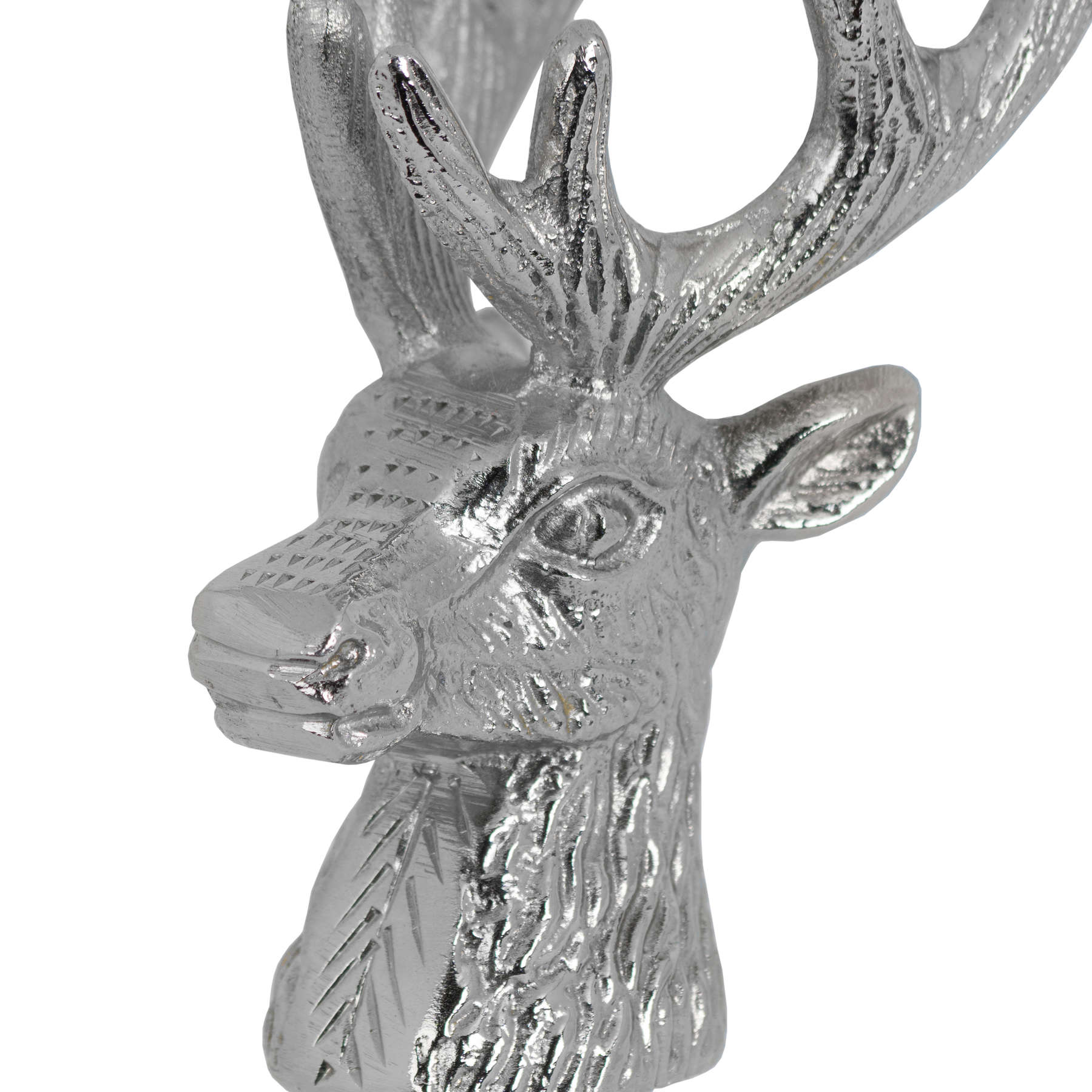Nickel Stag Head Bottle Stopper - Image 2