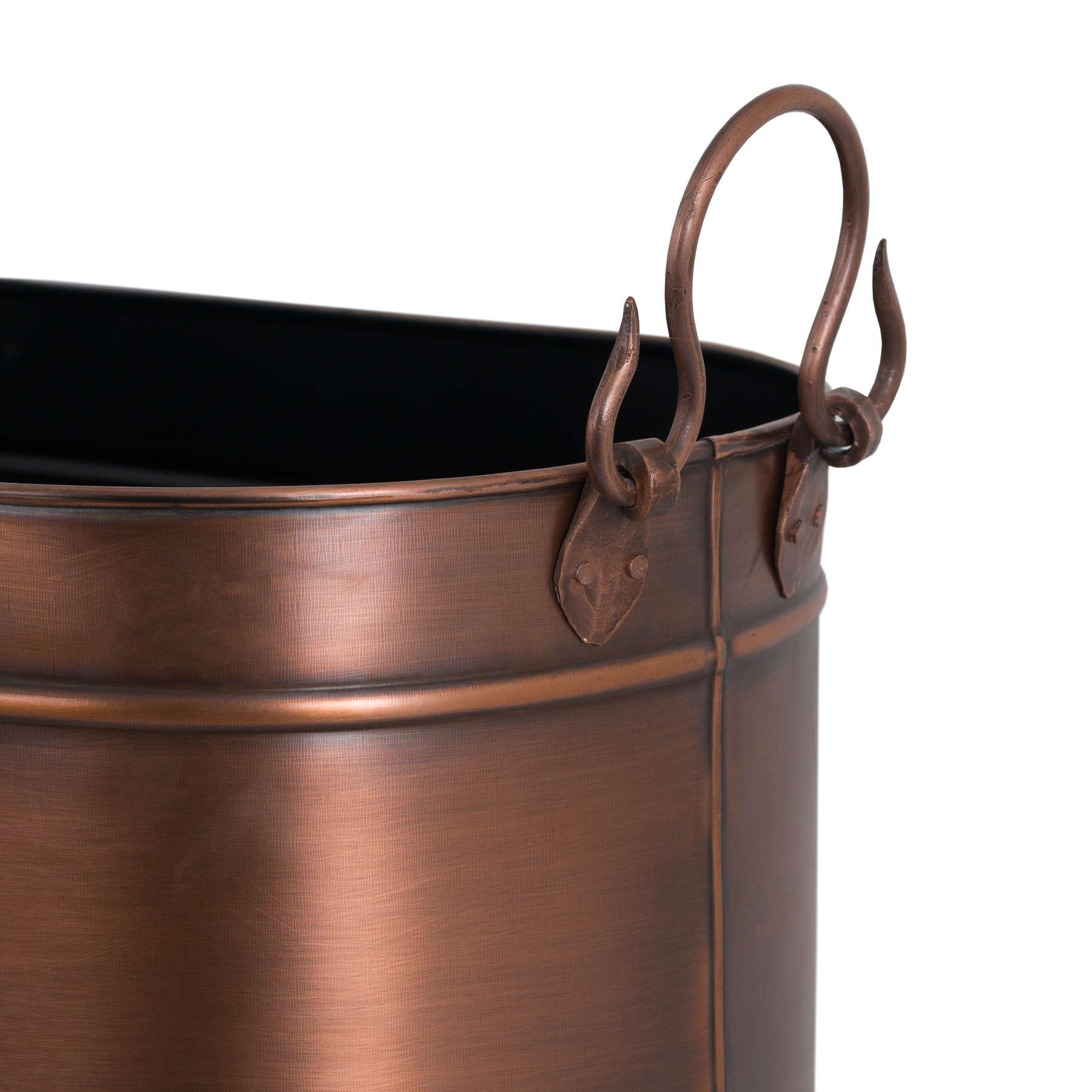 Large Copper Log Bucket - Image 2