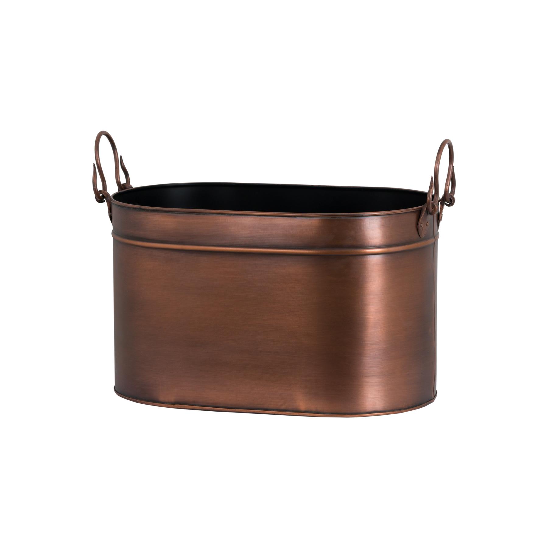Large Copper Log Bucket - Image 1
