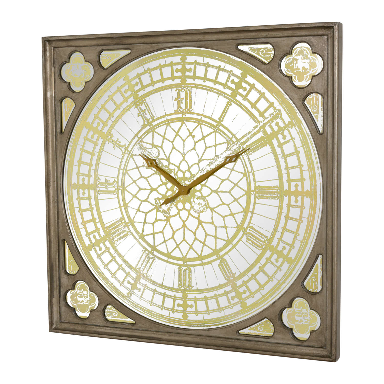 Big Ben Clock In A Antique Gold Finish