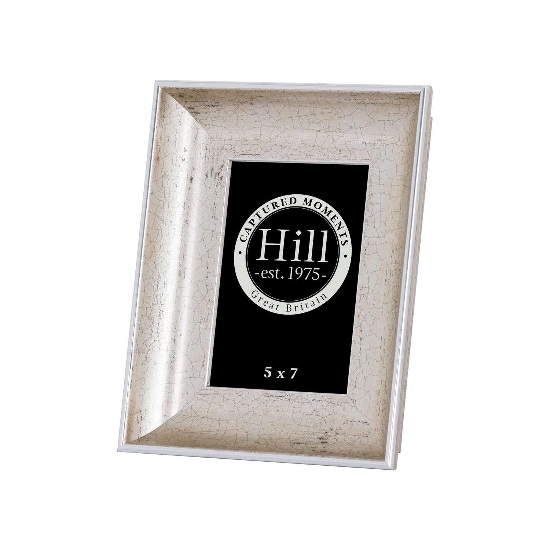 Antique Silver Crackled Effect Photo Frame 5X7 - Image 1