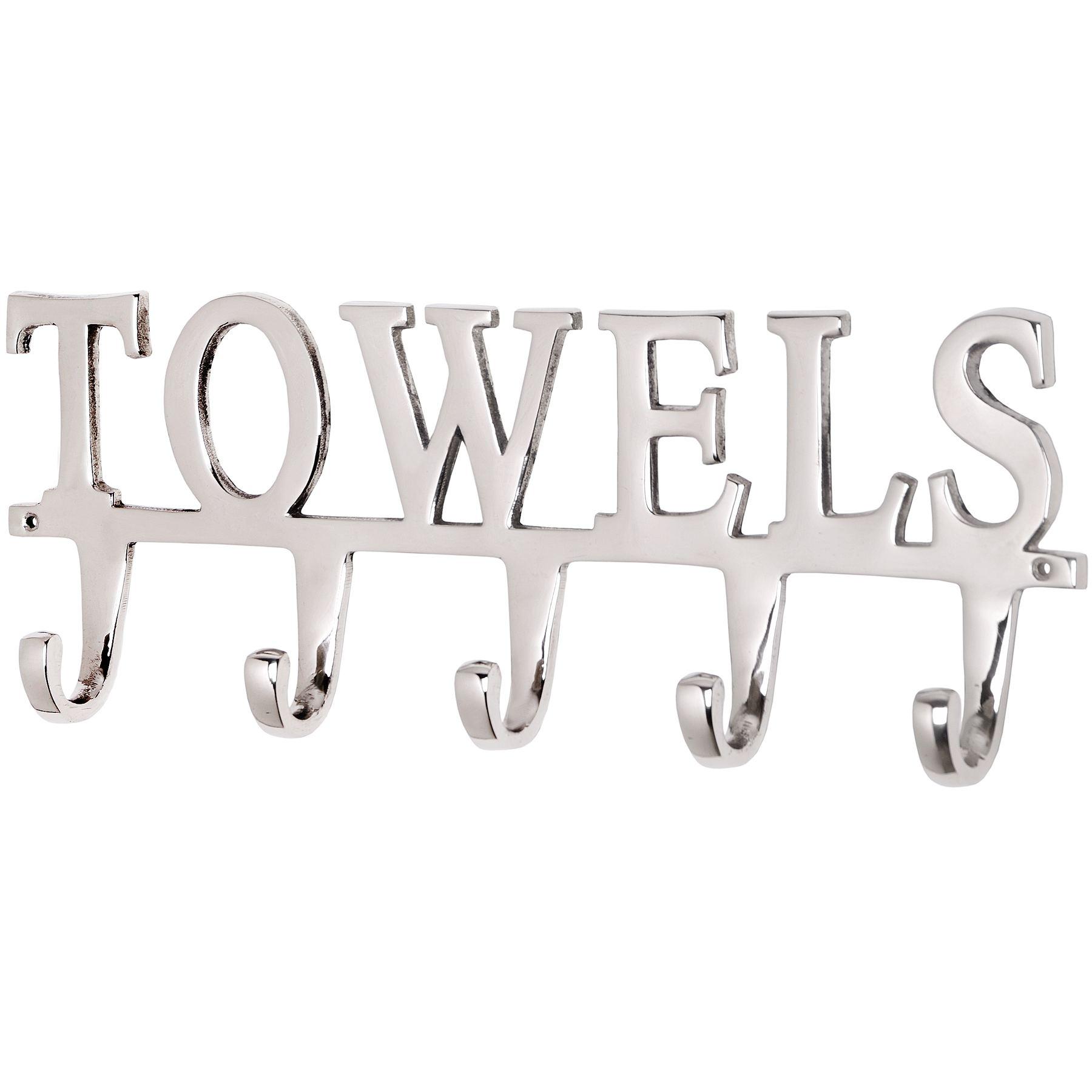 towel hooks. Large Nickel Towel Hook Hooks