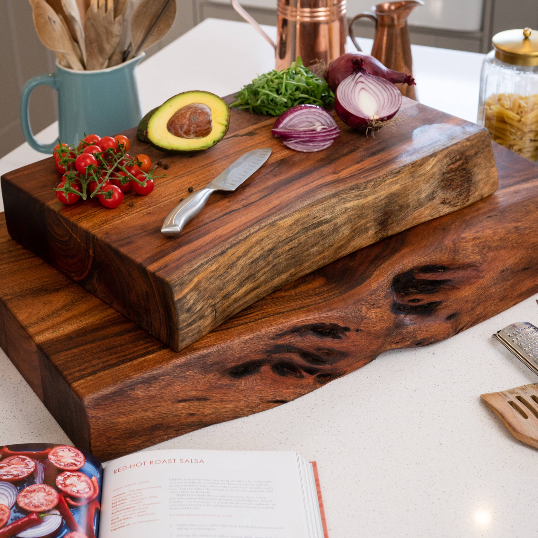 Live Edge Collection Large Pyman Chopping Board - Image 4