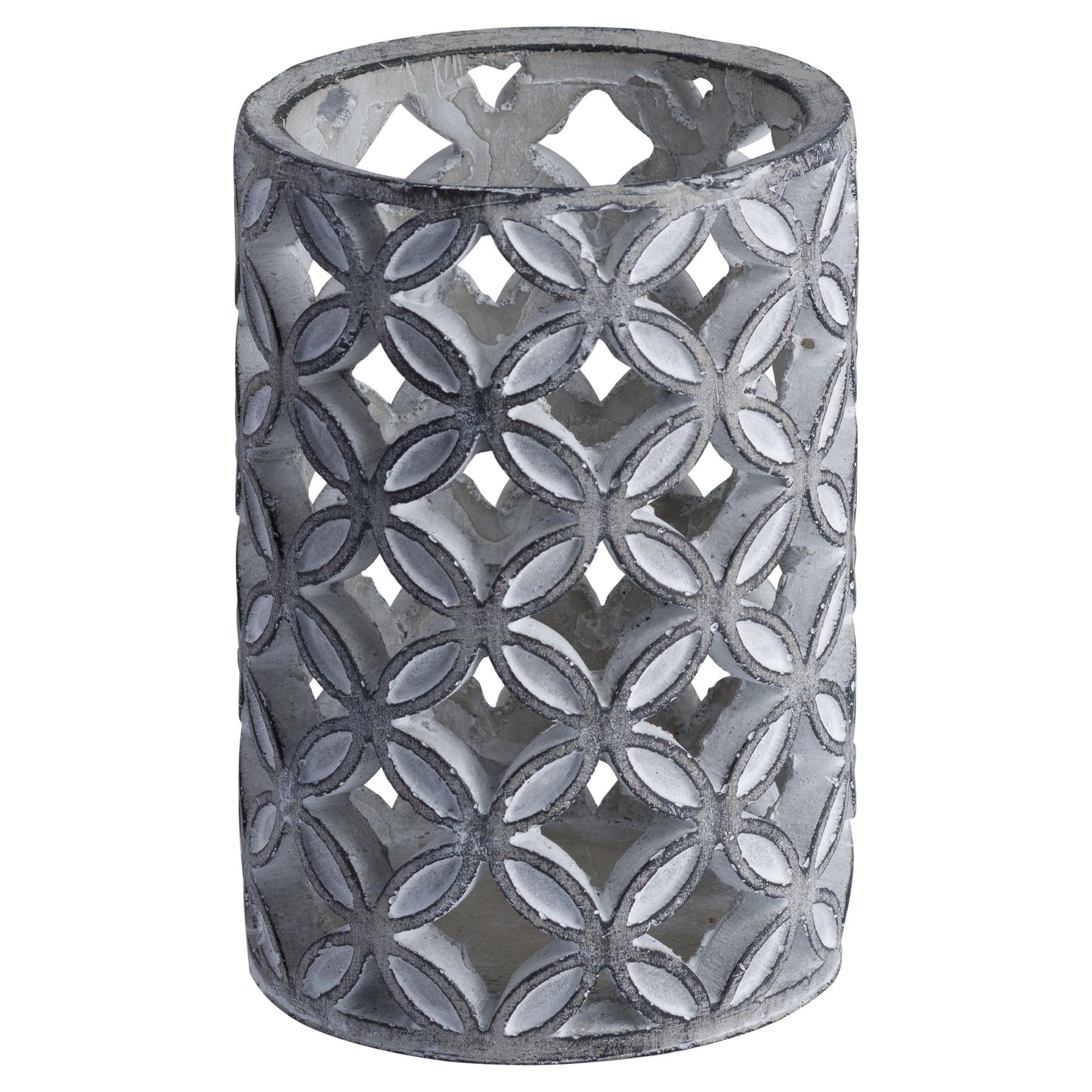 Large Geometric Stone Candle Sconce - Image 1