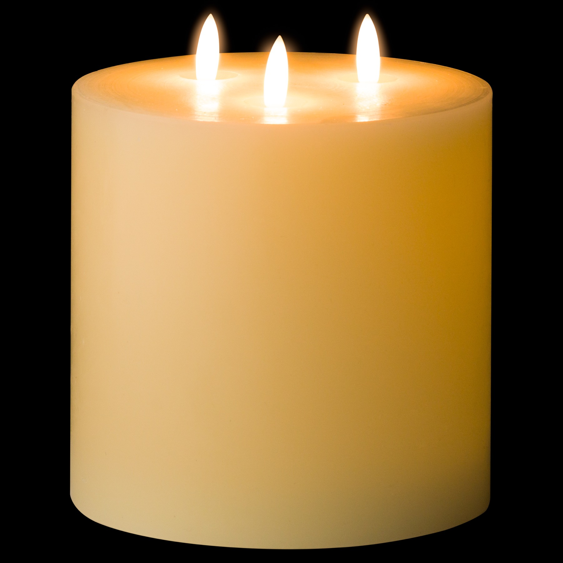 Luxe Collection Natural Glow 6 x 6 LED Ivory Candle - Image 2