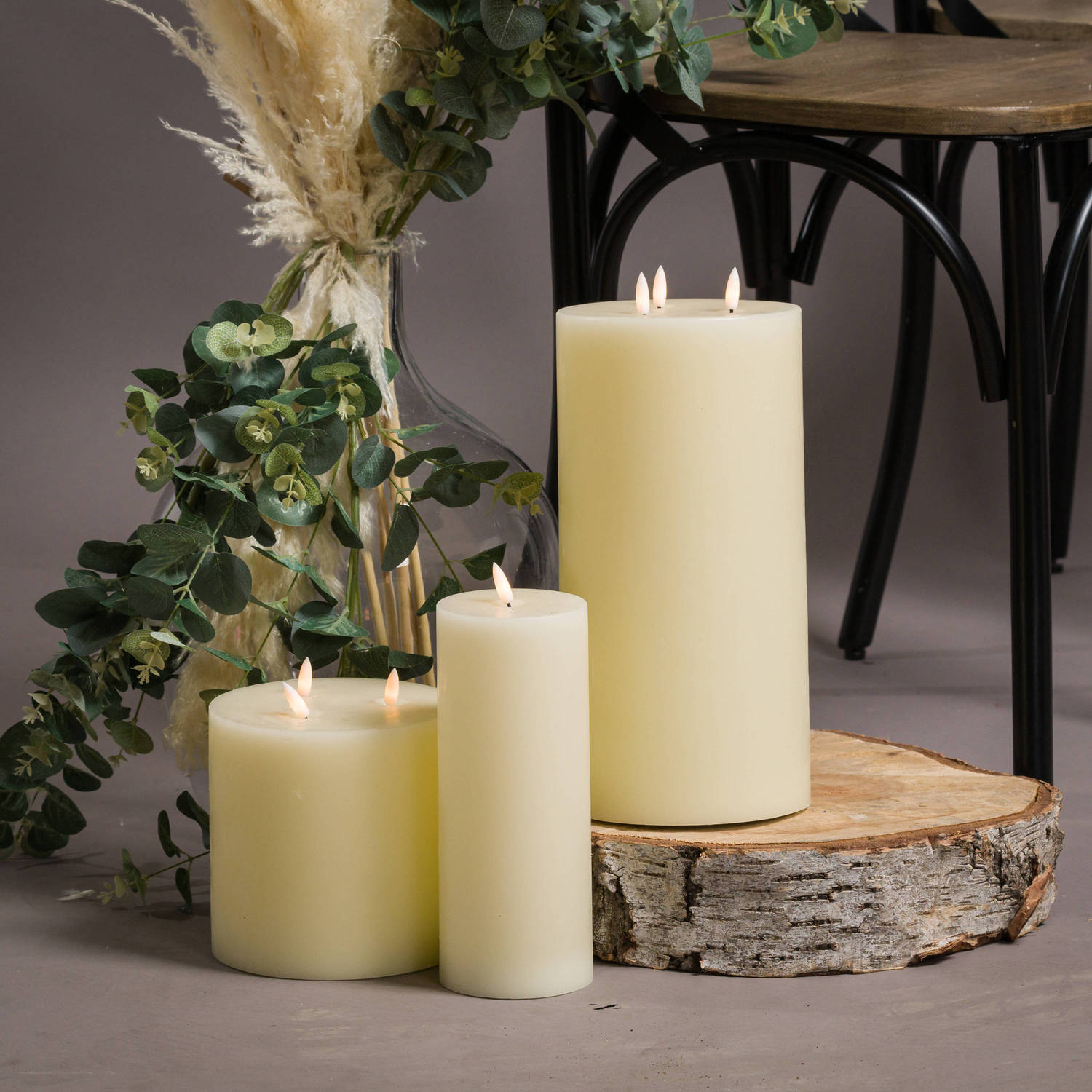 Luxe Collection Natural Glow 6 x 6 LED Ivory Candle - Image 5