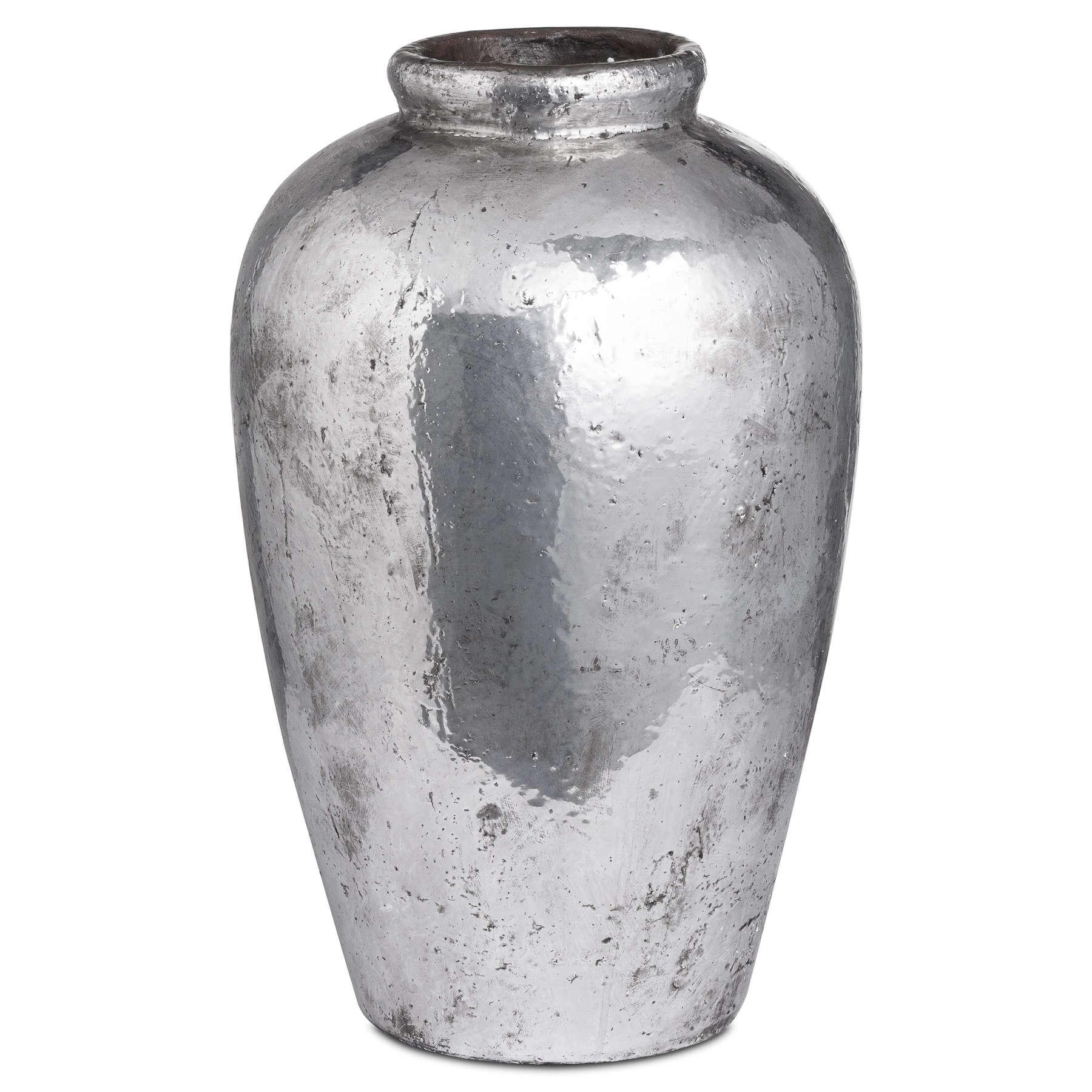 Tall Metallic Ceramic Vase - Image 1
