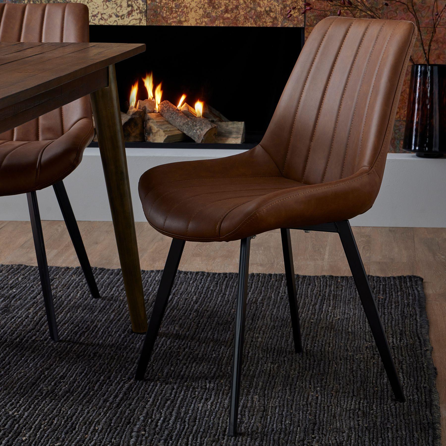 Malmo Tan Dining Chair - Image 4