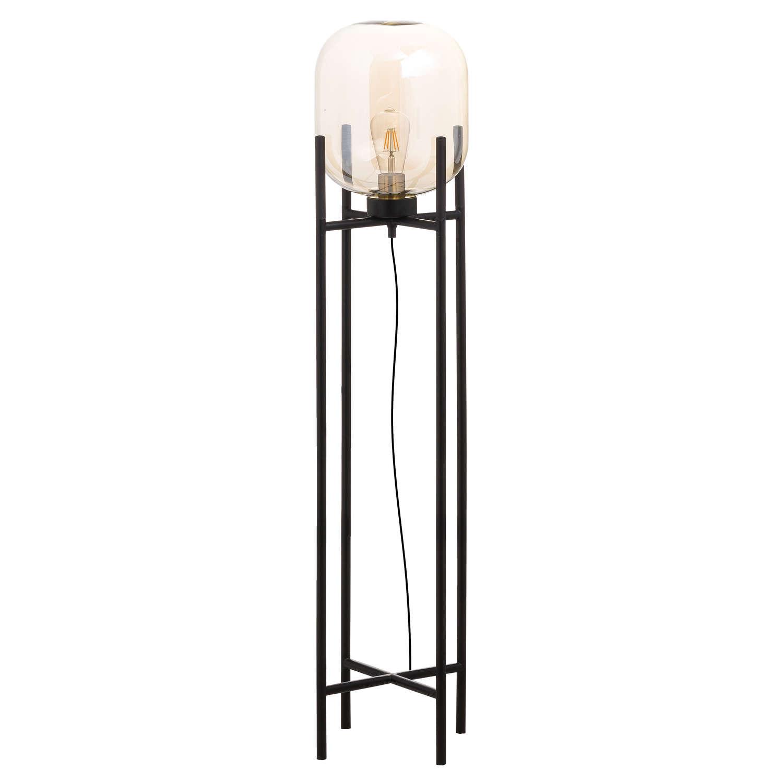 Large Vintage Industrial Glass Glow Lamp - Image 1