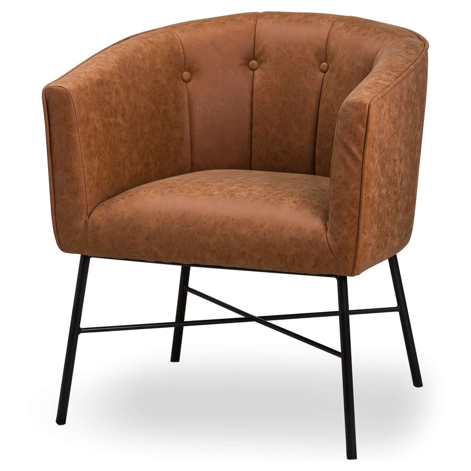 Tan Faux Leather Urban Tub Chair | Wholesale by Hill Interiors