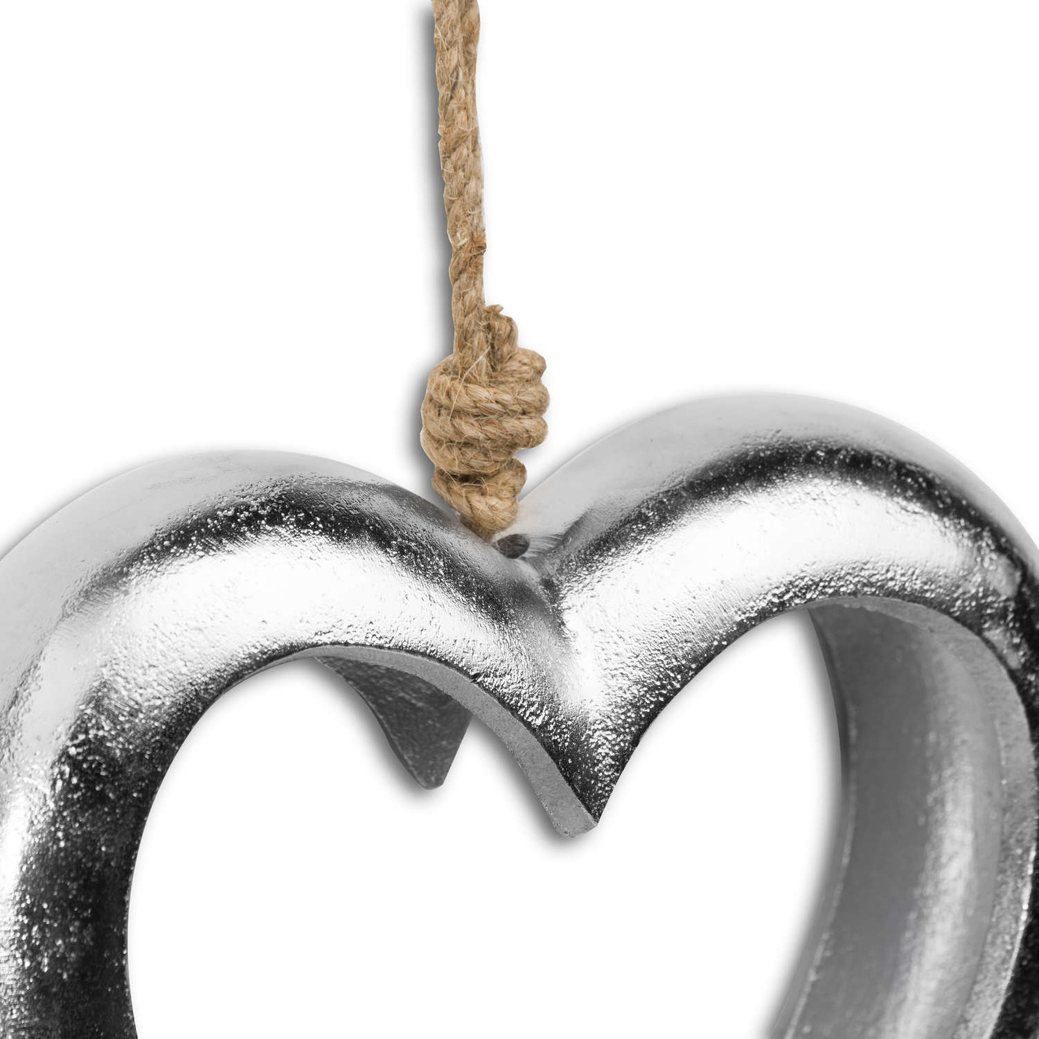 Casted Silver Cut Out Heart - Image 2