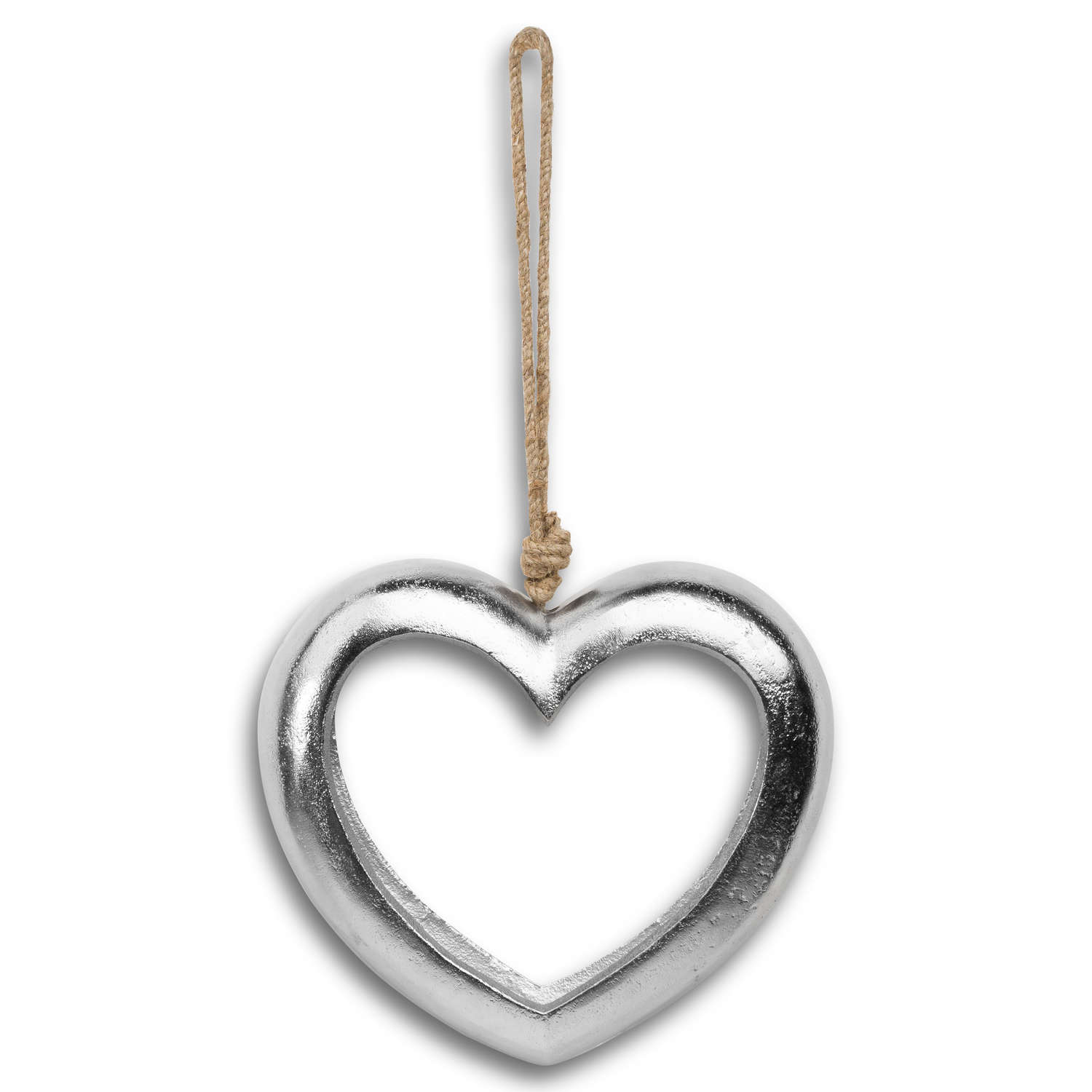 Casted Silver Cut Out Heart - Image 1
