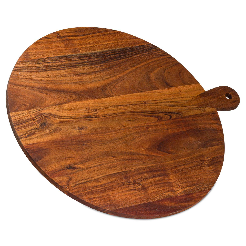 Large Round Hardwood Chopping Board - Image 1