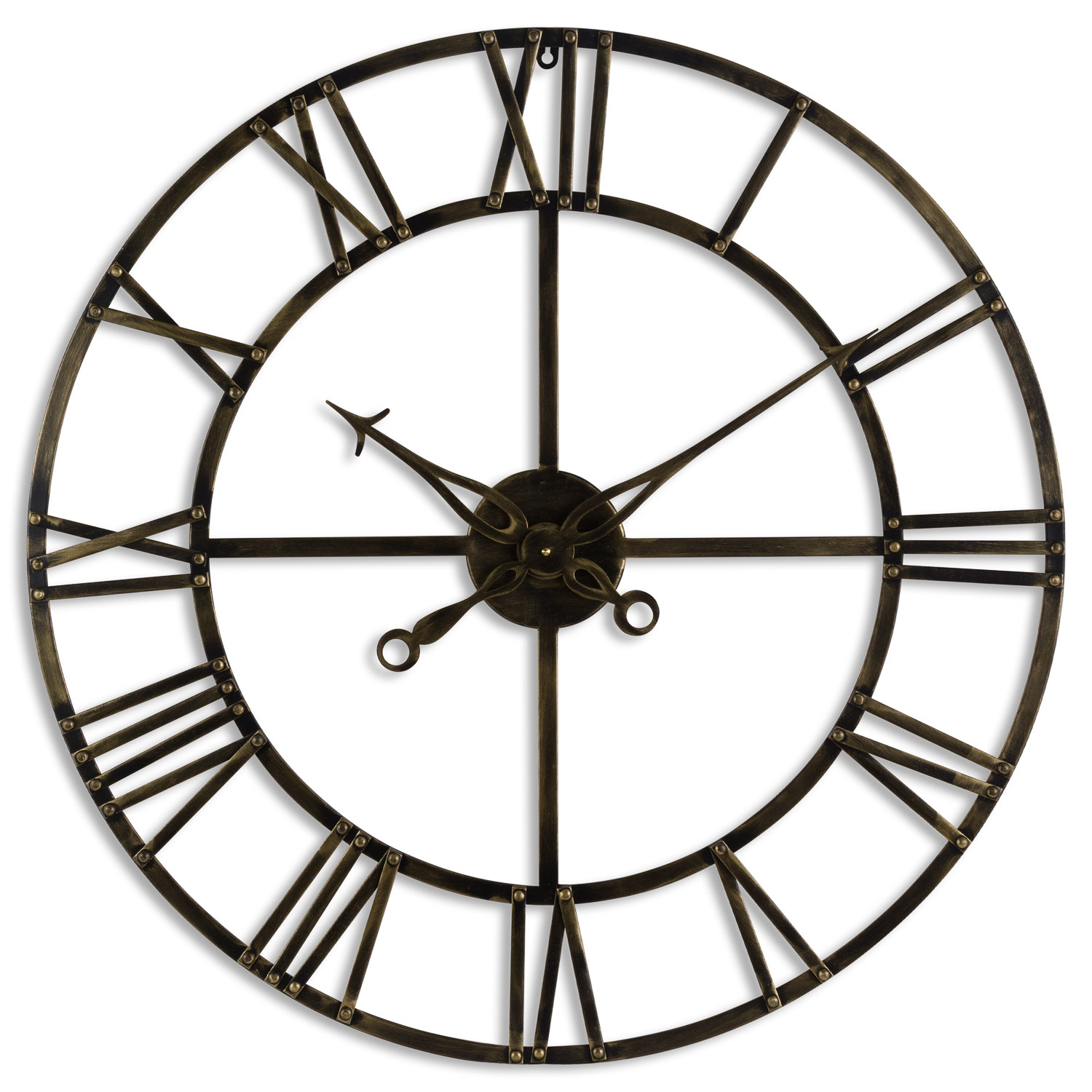 Antique Brass Skeleton Clock Wholesale By Hill Interiors
