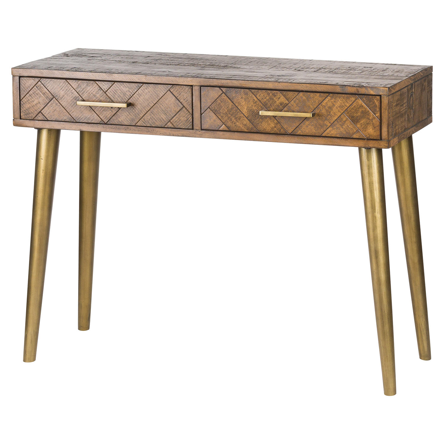 Havana Gold 2 Drawer Console Table - Image 1
