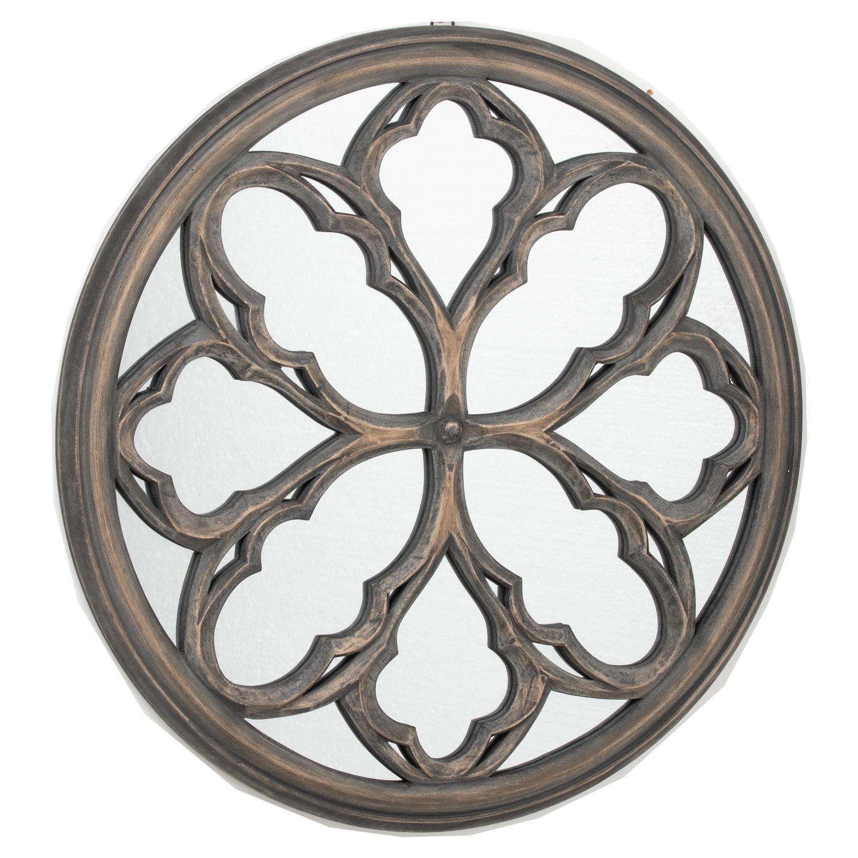 Circular Grey Wash  Avrey Mirror - Image 1