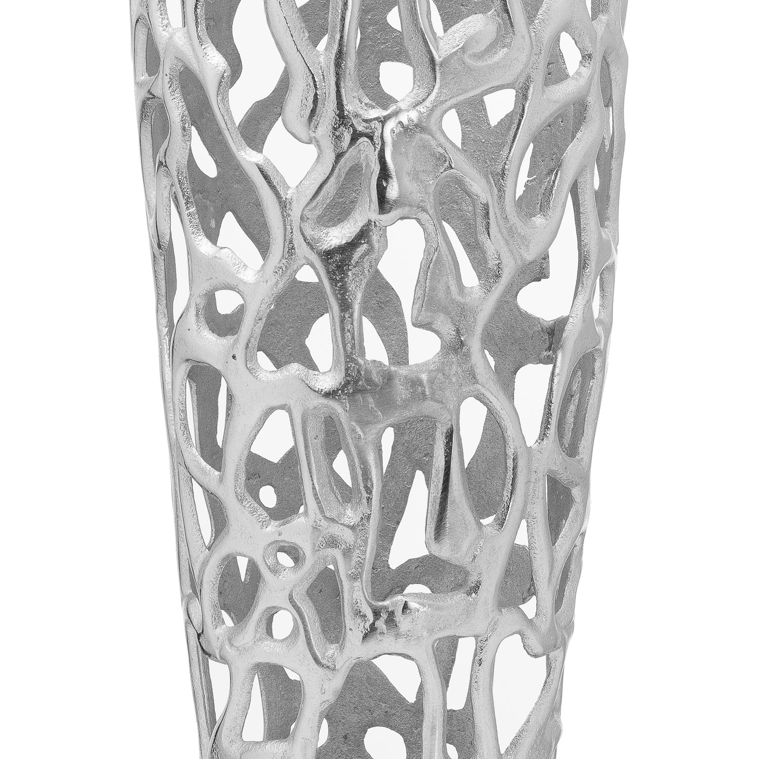 Ohlson Silver Perforated Coral Inspired Vase - Image 2