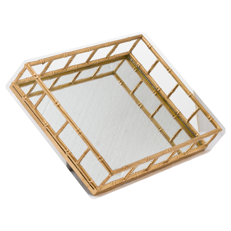 Set Of 2 Detailed Rectangular Trays - Image 2