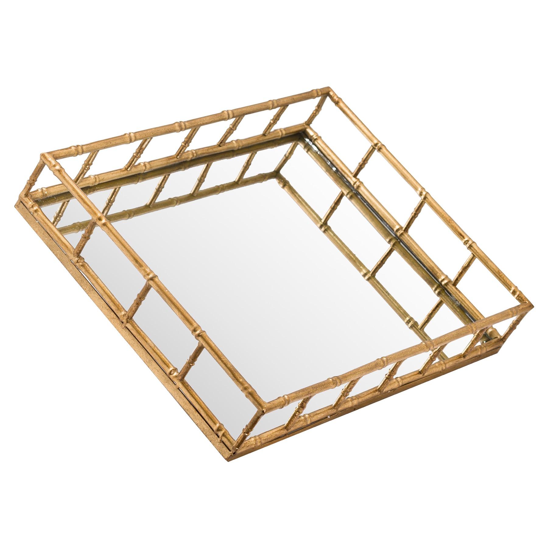 Set Of 2 Detailed Rectangular Trays - Image 1