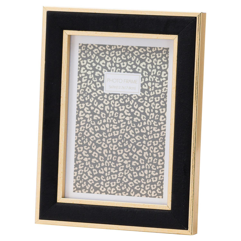 Black Velvet With Gold 5X7 Frame - Image 1