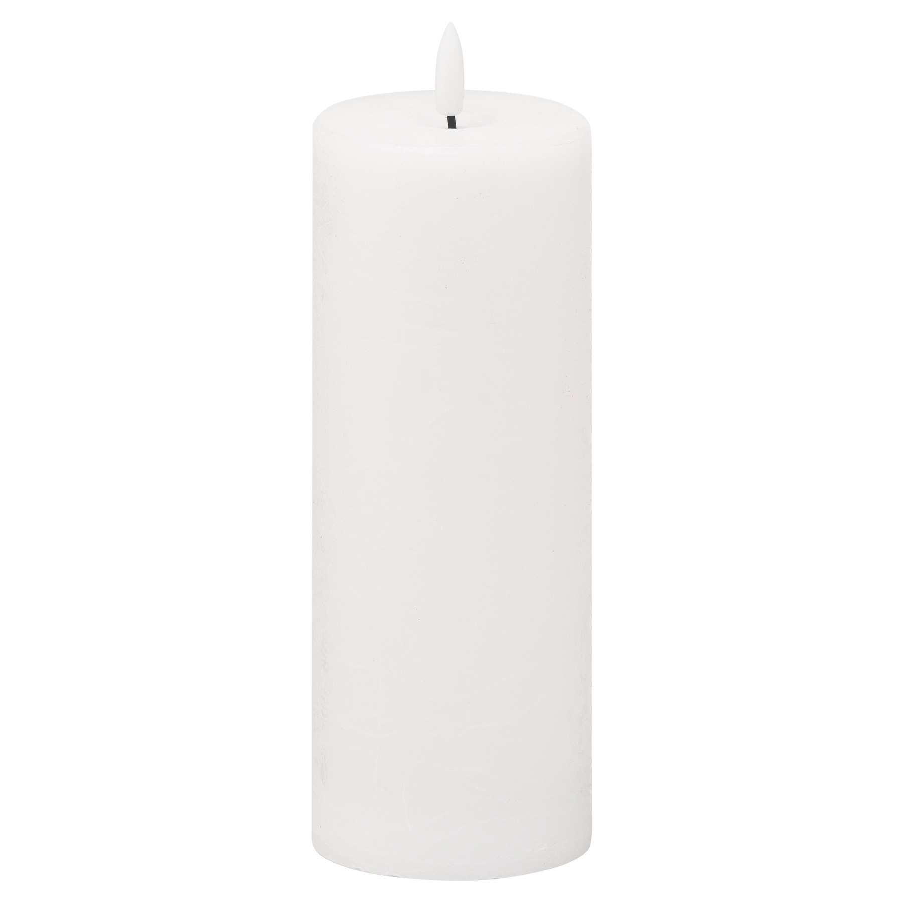 Luxe Collection Natural Glow 3x8 LED White Candle - Image 1