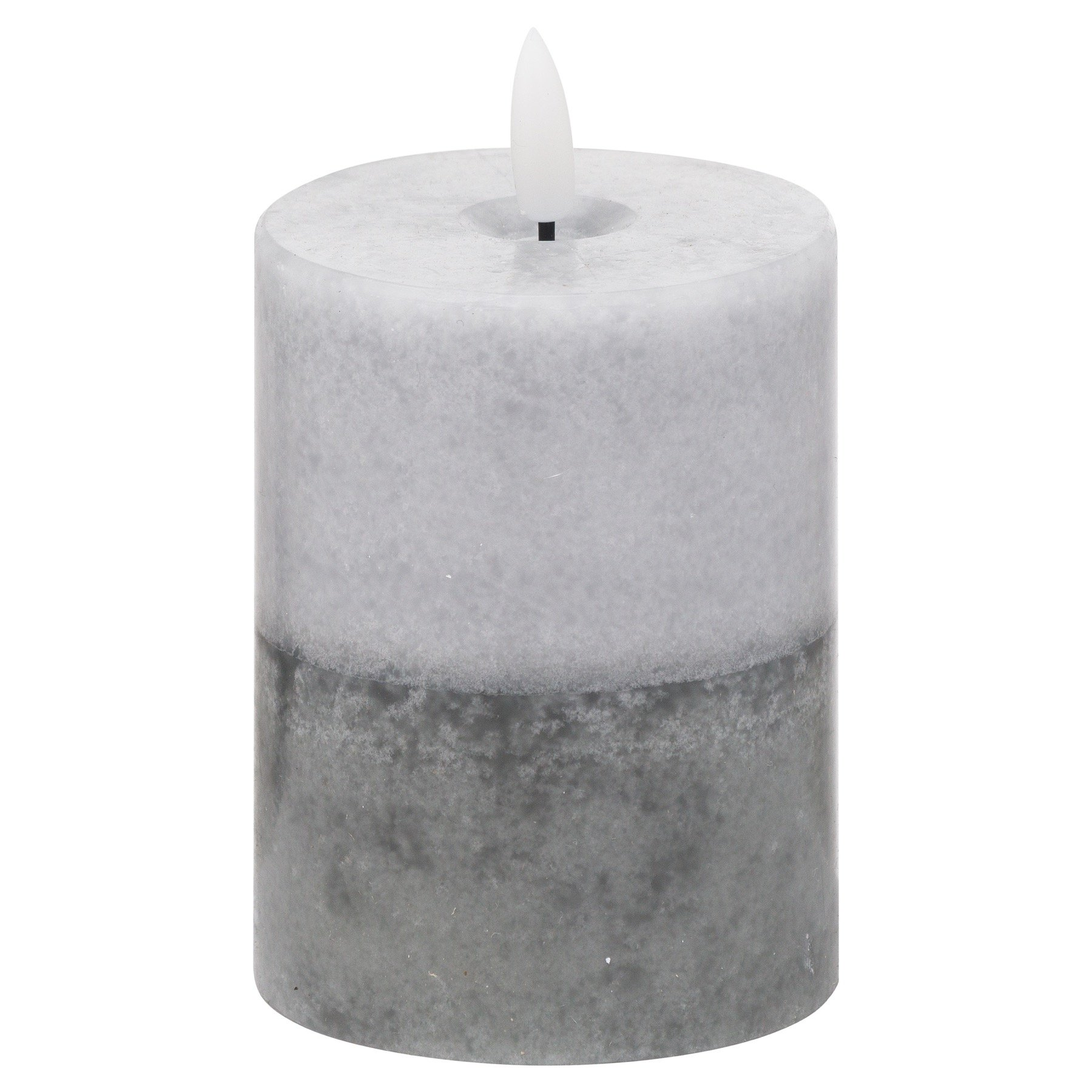 Luxe Collection Natural Glow 3x4 Grey  Dipped LED Candle - Image 1