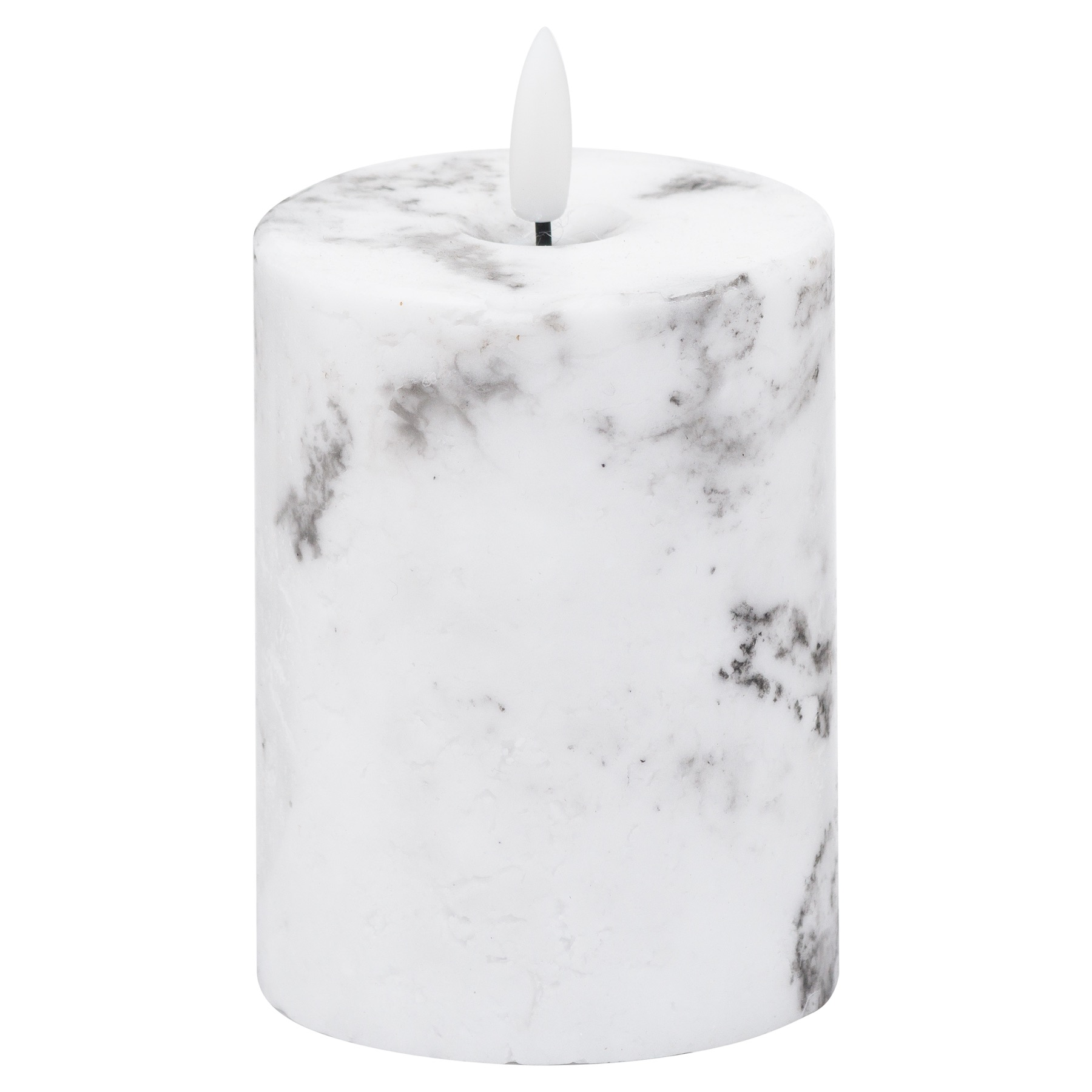 Luxe Collection Natural Glow 3x4 Marble Effect LED Candle - Image 1