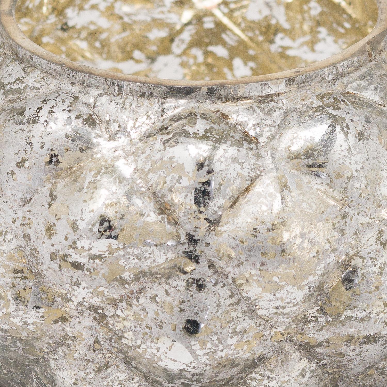 The Noel Collection Medium Silver Foil Votive Candle Holder - Image 2