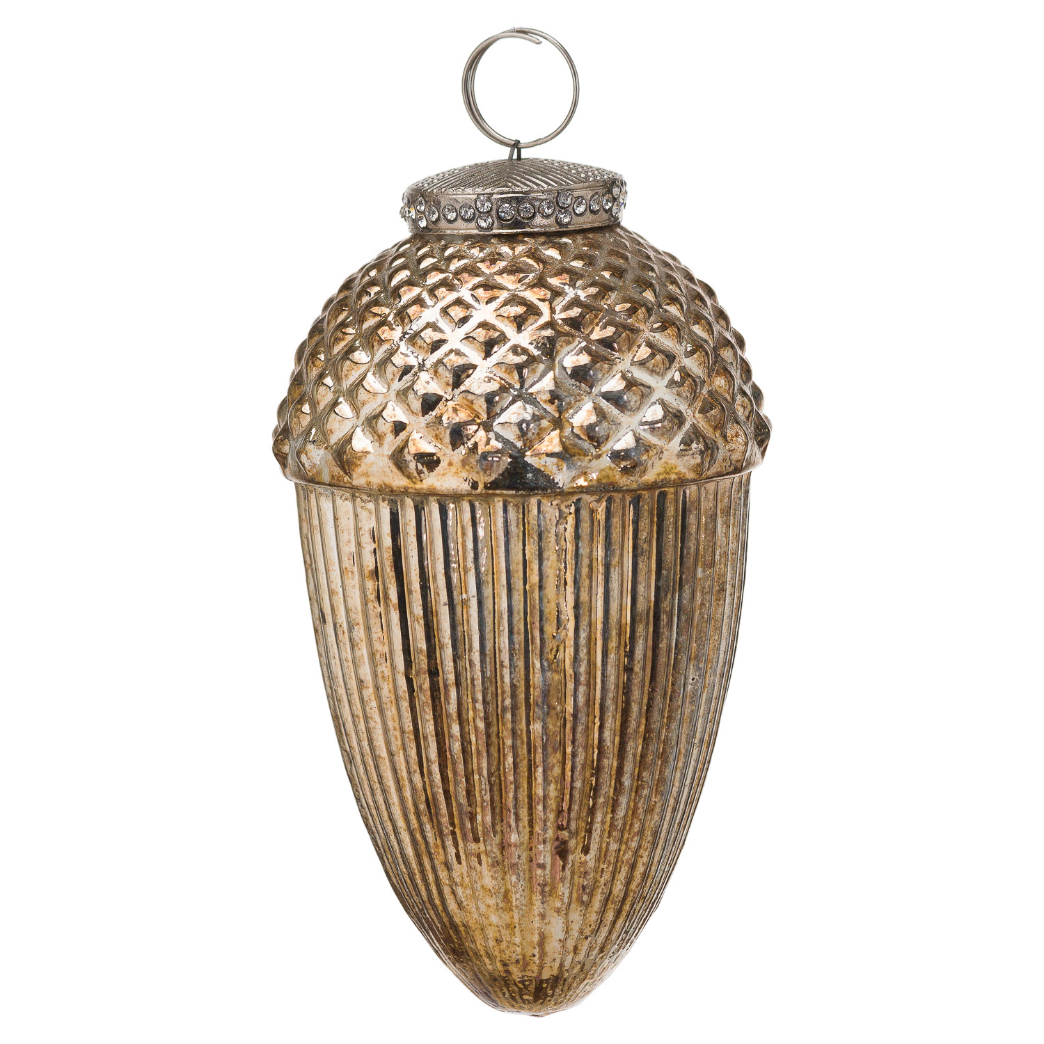 The Noel Collection Large Hanging Acorn Decoration - Image 1